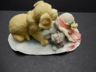 ENESCO  Partners in Crime  PUPPY and KITTEN  Figurine