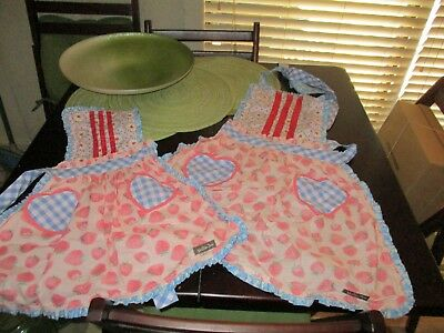 Too Cute!  Matilda Jane Mother and Daughter Aprons  NWT