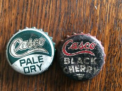 2 Different   Casco   Soda   Bottle   Caps  -  Cork Lined  -  Used