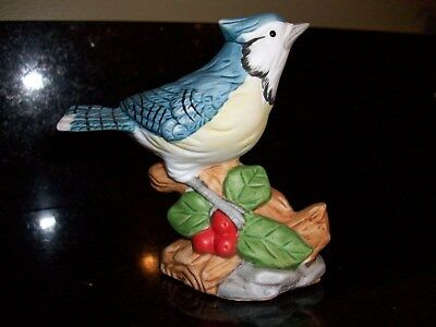 Whitehall Society Porcelain Bird Figurine The American Blue Jay