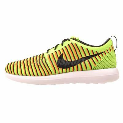 Nike Roshe Two Flyknit GS Running Kids Youth Shoes Electric Green 844619-300