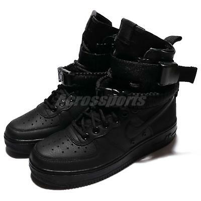 Nike Wmns SF AF1 Special Field Air Force 1 Triple Black Women Shoe 857872-002