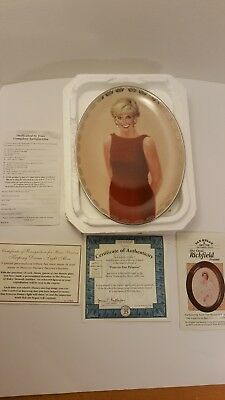 """1998 Bradford Exchange """"Forever Our Princess"""" Diana Plate Queen of Our Hearts"""