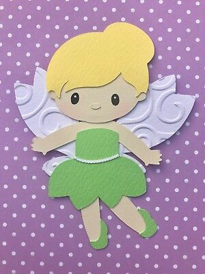 TINKERBELL (green fairy) fully assembled paper piecing / die cut