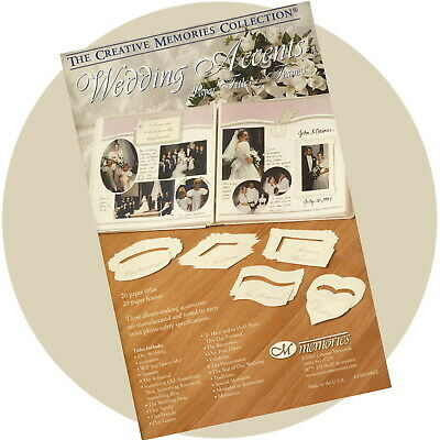 Creative Memories WEDDING ACCENTS Die Cut Paper Titles & Frames
