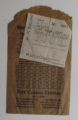 Mid-Century Ritz Camera Centers Photo Envelope