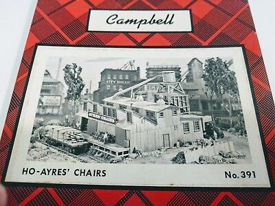 HO Campbell Scale Models Ayres Chairs Furniture Factory Building Craftsman kit