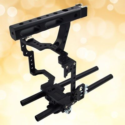 1 Pc Lightweight Camera Video Stabilizer Cage with Handle Grip for GH4 A6300 A7R