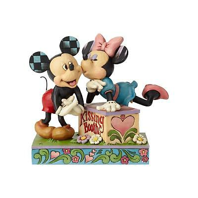Jim Shore - Kissing Booth Mickey & Minnie Mouse Valentines Disney Enesco 6000970