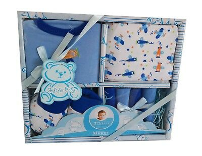 """Clothes for new born baby boy """"7 piece gift set."""" GREAT BABY SHOWER GIFT."""
