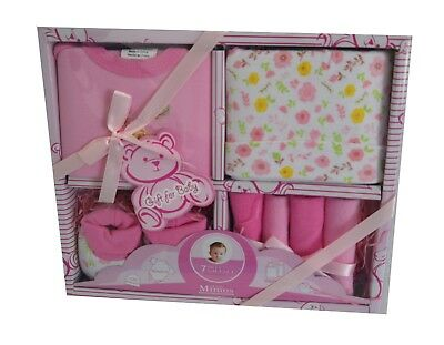"""Clothes for new born baby girl """"7 piece gift set."""" GREAT BABY SHOWER GIFT."""