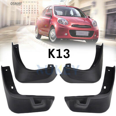 Mud Flaps Splashs Guards Set For Nissan March Micra K13 10-13 11 12 Mudgurads