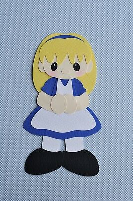 ALICE IN WONDERLAND fully assembled paper piecing / die cut