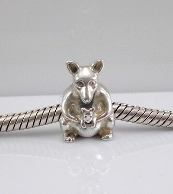 85f8b50e8 ... inexpensive authentic pandora 925 ale sterling silver kangaroo with  baby charm 790534 ea480 d923c