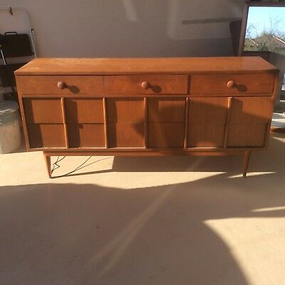 antique Basic Witz 1950-1960's dresser and large mirror