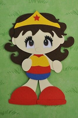 WONDER WOMAN - fully assembled die cut / paper piecing
