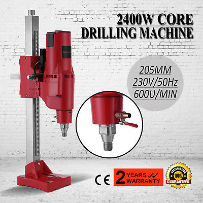 Diamond Concrete Core Drill Machine Vertical Stand Press Drilling Electric