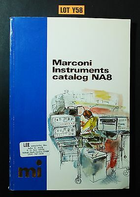 Marconi Instruments Catalog NA8 1978 FILTER OSCILLATOR AMPLIFIER LOT Y58