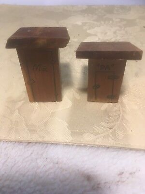 Antique Salt & Pepper Shakers ...mom & Pop Out-House's