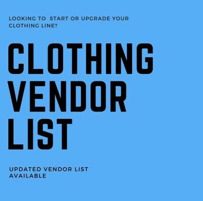 Women Clothing Vendor List