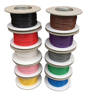 AUTOMOTIVE 0.5mm THIN WALL ELECTRICAL AUTO CABLE WIRE 11AMP ALL LENGTHS/COLOURS