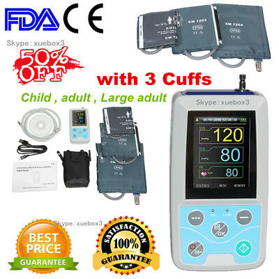 Automatic Ambulatory Blood Pressure Monitor 24h,child,adult,large adult cuff,US