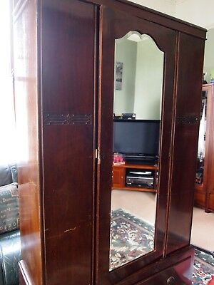 Victorian Mahogany Triple Wardrobe Vintage antique Need Gone ASAP Open To OFFERS
