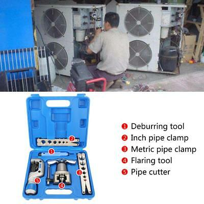 5 in 1 Manual Pipe Flaring Tool Kit Copper Pipe Expander for Fridge Repair xi