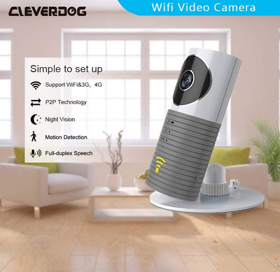 UK Clever Dog Cleverdog Wireless Smart Camera WiFi Monitor Security Grey