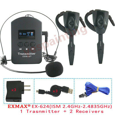 EX-624 ISM2.4GHz Wireless Voice Guide System Mini Ear-hook Receiver For Training