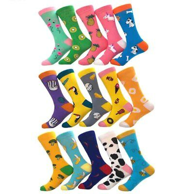Mens Socks Animal Sokken Combed Cotton Funny Socks Men's Big Size Crew Socks