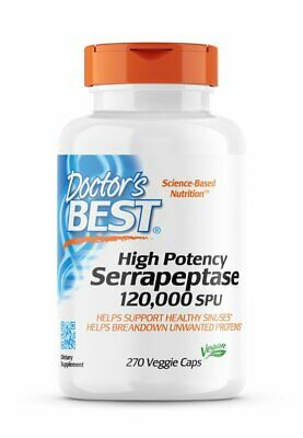 Doctor's Best, High Potency Serrapeptase, 120000 IU, 270 Vegane Kapseln