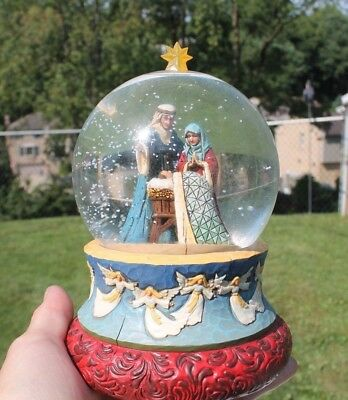 Jim Shore Heartwood Creek-Oh Blessed Family Musical Waterball/Snowglobe-EUC