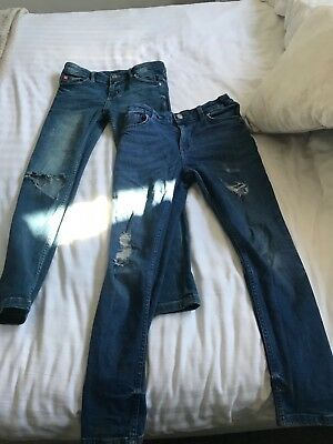 2 pairs River Island Boys Skinny Jeans - Size 9 Years