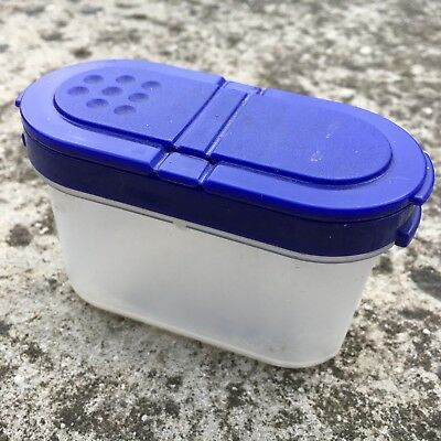 "TUPPERWARE ""Blue"" High Quality Plastic Salt Herb Spice Container Dispenser"