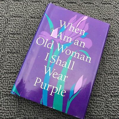 WHEN I AM AN OLD WOMAN I SHALL WEAR PURPLE Sweet Mini Book (1997) Hardcover