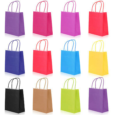 Bright Paper Party Bags Gift Bag With Handles Recyclable Birthday Loot Bag UK