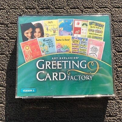 ART EXPLOSION: GREETING CARD FACTORY Creative Card Making PC Game (2005)