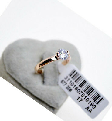 100% Brand New Genuine 18K Rose Gold 1.25 ct Engagement Eternity Ring size 7