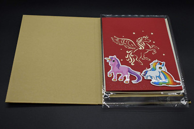 3d Pop Up Greeting Cardmeiyaa Hand Made Unicorn Light Up Music Gift