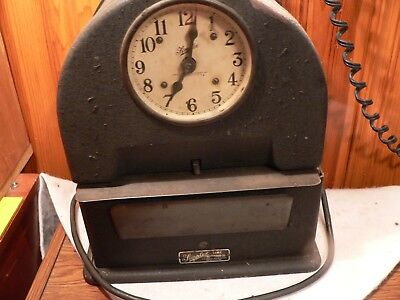 1930s Simplex punch clock Time Recorder Antique WORKING