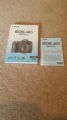 canon eos 40d dslr instruction manual pocket guide italian 7 00 rh picclick co uk Canon 30D Canon 77D