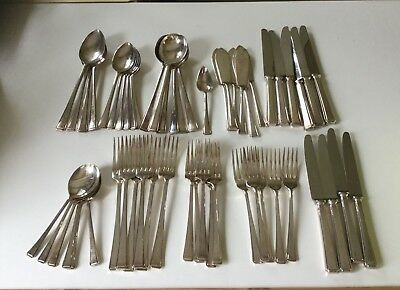 Job lot Vintage silver plate stainless steel pewtercutlery goblets various items