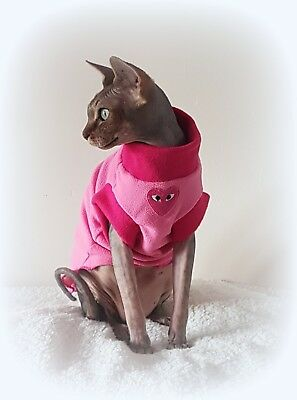 soft and delicate HEART, Valentines Sphynx cat clothes, clothes for sphynx cat