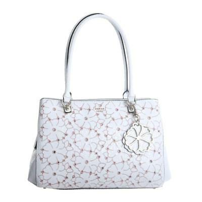 55dec20e41 GUESS JAYNE GIRLFRIEND Satchel White Multi - EUR 93,00 | PicClick FR