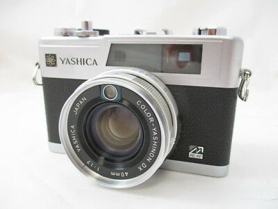【As-is】Yashica Electro 35 GX silver Rangefinder film camera from Japan #1471