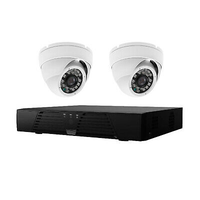 2MP CCTV System With 4 Channel DVR & 2x 20m IR Dome Cameras +DC Splitter