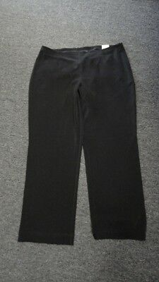 ADDITIONS BY CHICO'S NWT Black Solid Polyester Blend Casual Pants Size 3 FF4133