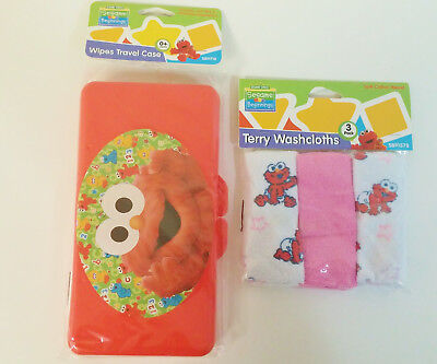 Elmo Baby Wipe Case and Washcloth Set