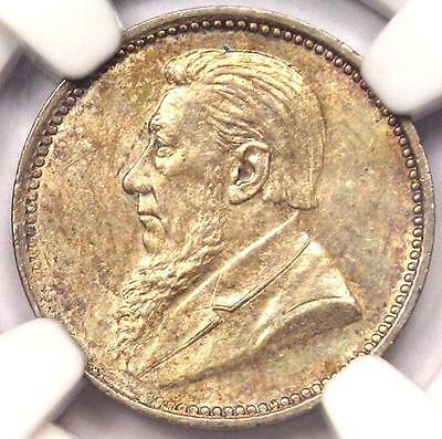 1897 South Africa Zar Threepence (3P) - NGC MS64 - VERY Rare in BU MS64 Grade!